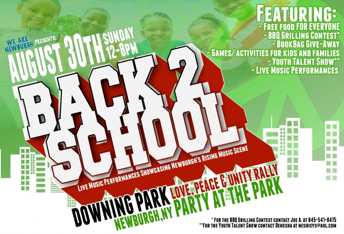 Aug. 30th, 12-8pm, Downing Park, Newburgh, NY